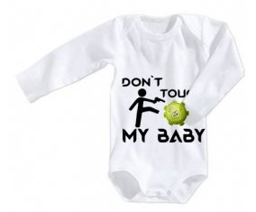 Corona Don't touch my baby : Body Bébé 3/6 mois manches Courtes