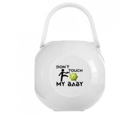 Corona Don't touch my baby : Boîte à sucette de couleur Blanche