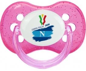 Coppa Italia 2020 Napoli : Rose à paillette Tétine embout cerise