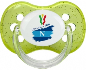 Coppa Italia 2020 Napoli : Vert à paillette Tétine embout cerise