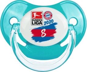 Bayern München 8 bundesliga : Bleue classique Tétine embout physiologique