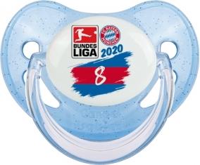 Bayern München 8 bundesliga : Bleue à paillette Tétine embout physiologique