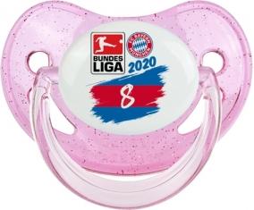 Bayern München 8 bundesliga : Rose à paillette Tétine embout physiologique