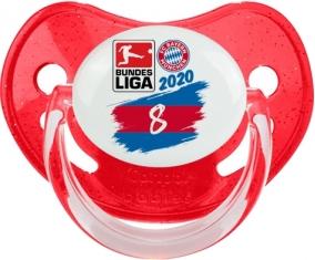 Bayern München 8 bundesliga : Rouge à paillette Tétine embout physiologique