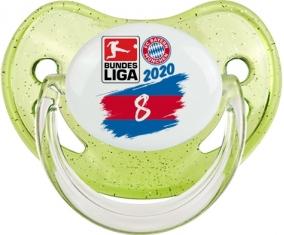 Bayern München 8 bundesliga : Vert à paillette Tétine embout physiologique