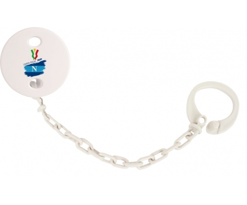 Attache-tétine Coppa Italia 2020 Napoli couleur Blanc