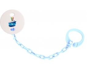 Attache-tétine Coppa Italia 2020 Napoli couleur Bleu ciel