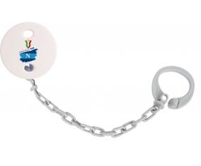 Attache-tétine Coppa Italia 2020 Napoli couleur Grise