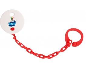 Attache-tétine Coppa Italia 2020 Napoli couleur Rouge