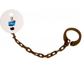 Attache-tétine Coppa Italia 2020 Napoli couleur Marron