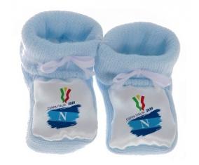 Chausson bébé Coppa Italia 2020 Napoli de couleur Bleu