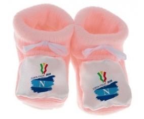 Chausson bébé Coppa Italia 2020 Napoli de couleur Rose