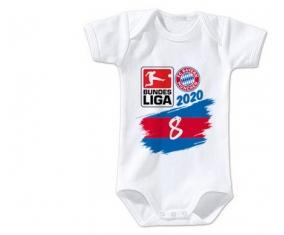 Body bébé Bayern München 8 bundesliga 3/6 mois manches Courtes