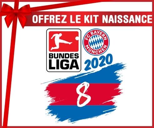 kit naissance bébé personnalisé Bayern München 8 bundesliga