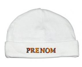 Bonnet Prénom ou texte personnalisée alphabet style-13