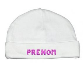 Bonnet Prénom ou texte personnalisée alphabet style-19