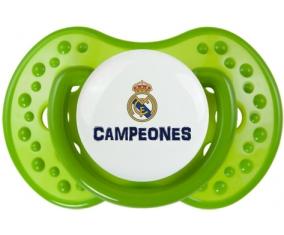 Real Madrid : Campeones 34 Liga design-2 : Vert classique Tétine embout Lovi Dynamic