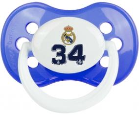 Real Madrid : Campeones 34 Liga design-3 : Bleu classique Tétine embout anatomique