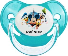 Disney Mickey donald pluto et bingo design 1 avec prénom : Bleue classique Tétine embout physiologique