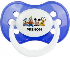 Disney Mickey donald pluto et bingo design 2 avec prénom : Bleu classique Tétine embout anatomique