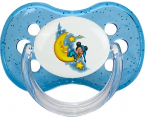 Disney Mickey Bonne nuit : Bleu à paillette Tétine embout cerise