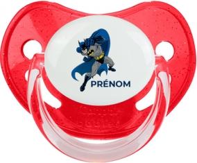 Batman design-2 : Rouge à paillette Tétine embout physiologique