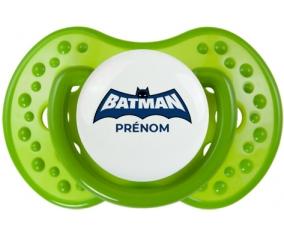 Batman logo bleu avec prénom : Sucette LOVI Dynamic personnalisée