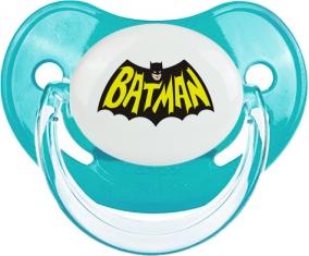 Batman logo design-3 : Bleue classique Tétine embout physiologique