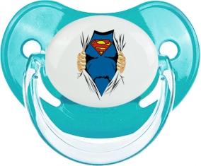 Superman design-1 : Bleue classique Tétine embout physiologique