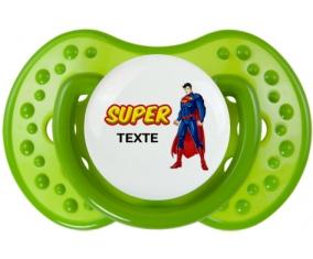 Superman avec texte : Vert classique Tétine embout Lovi Dynamic