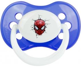 Tête Spiderman casse le mur : Bleu classique Tétine embout anatomique