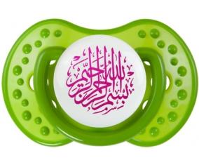 Bism allah alrahman alraheem en Rose : Vert classique Tétine embout Lovi Dynamic