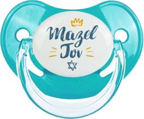 Judaisme : mazel tov hebrew design-2 : Bleue classique Tétine embout physiologique