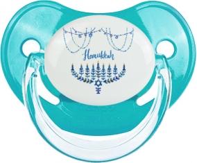 Judaisme : Hanoukkia design-4 : Bleue classique Tétine embout physiologique