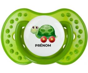 Jouet toys tortue avec roues avec prénom : Tétine LOVI Dynamic personnalisée