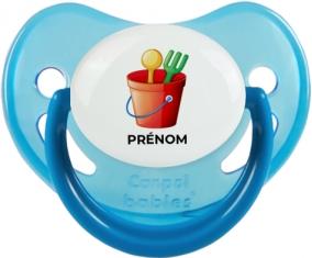 Jouet toys jouet de plage design-1 avec prénom : Bleue phosphorescente Tétine embout physiologique
