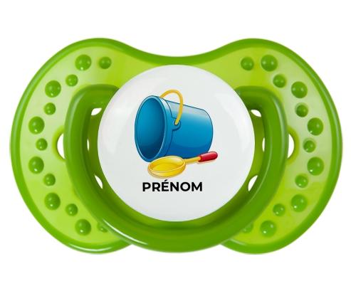 Jouet toys jouet de plage design-2 avec prénom : Vert classique Tétine embout Lovi Dynamic