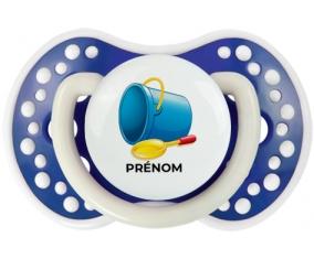 Jouet toys jouet de plage design-2 avec prénom : Bleu-marine phosphorescente Tétine embout Lovi Dynamic