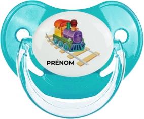 Jouet toys train design-2 avec prénom : Bleue classique Tétine embout physiologique