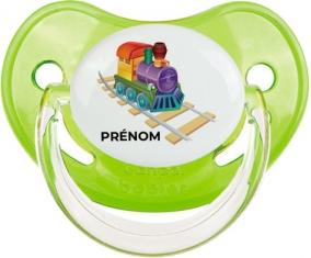 Jouet toys train design-2 avec prénom : Vert classique Tétine embout physiologique