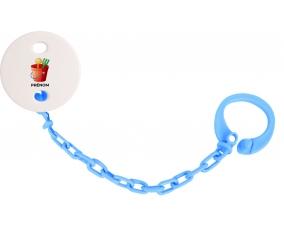 Attache-tétineJouet toys jouet de plage design-1 avec prénom couleur Bleu turquoise