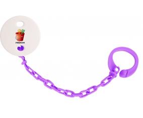 Attache-tétineJouet toys jouet de plage design-1 avec prénom couleur Violet