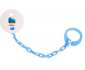Attache-tétineJouet toys jouet de plage design-2 avec prénom couleur Bleu turquoise