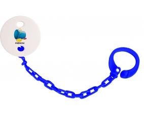 Attache-tétineJouet toys jouet de plage design-2 avec prénom couleur Marine