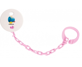 Attache-tétineJouet toys jouet de plage design-2 avec prénom couleur Rose clair