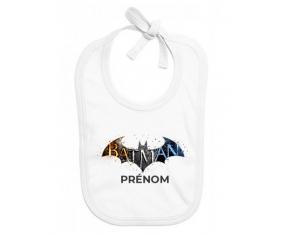 Bavoir bébé personnalisé Batman logo design-1 avec prénom