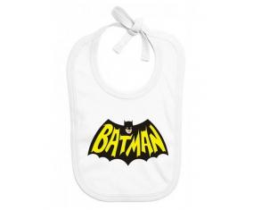 Bavoir bébé personnalisé Batman logo design-3