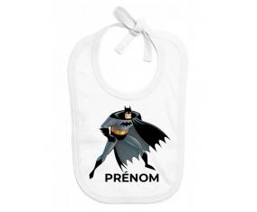 Bavoir bébé personnalisé Batman avec prénom