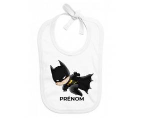 Bavoir bébé personnalisé Batman kids logo design-4 avec prénom