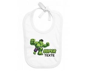 Bavoir bébé personnalisé Super Hulk avec prénom